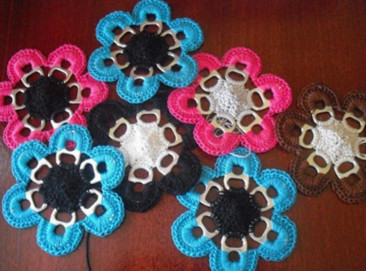 Crochet with recyclables