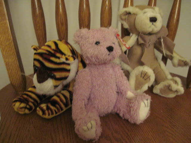 Stuffed animals to pack in an Operation Christmas Child shoebox.