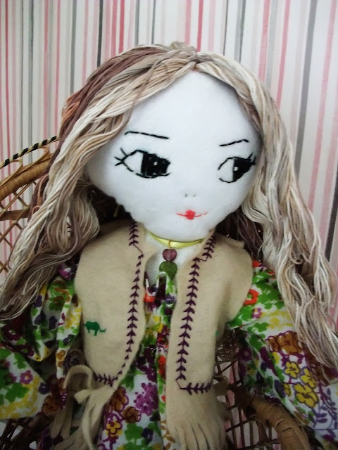upcycled 70s rag doll by karen vallerius