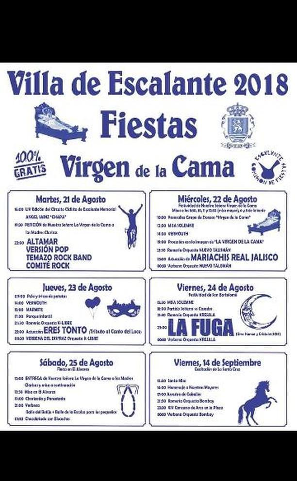 Fiestas de la Virgen de la Cama en Escalante 2018