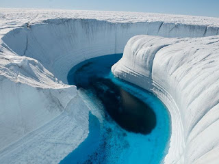 Veduta tridimensionale dei ghiacciai in Antardite
