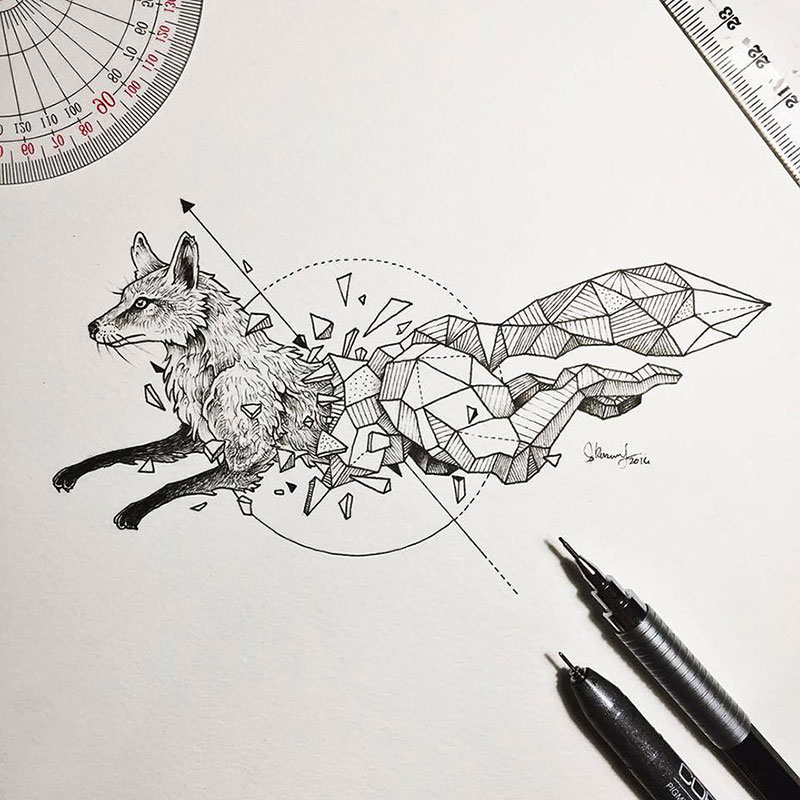 Geometric Beasts: Illustrations by Kerby Rosanes