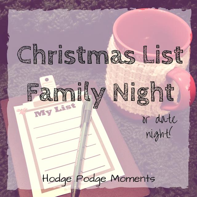 Christmas List Family Night