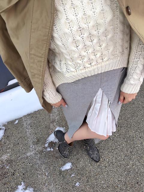 2 in 1 skirt