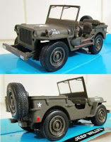 miniatur jeep willys diecast replika land rover defender mainan mobil