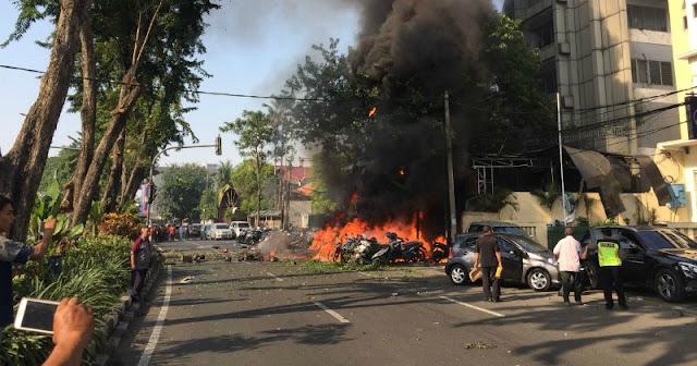 Terjadi Ledakan Bom di Tiga Gereja di Surabaya