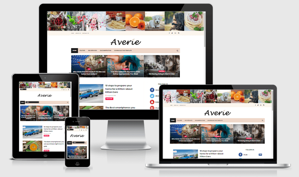 Averie - Minimal & Fashion Blogging Theme