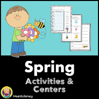 The Spring Activities Pack is filled with engaging literacy tasks like acrostic poems, alphabetical order, Go-Fish, word scrambles, word searches, a crossword puzzle, comparing and contrasting, sequencing events, and more!