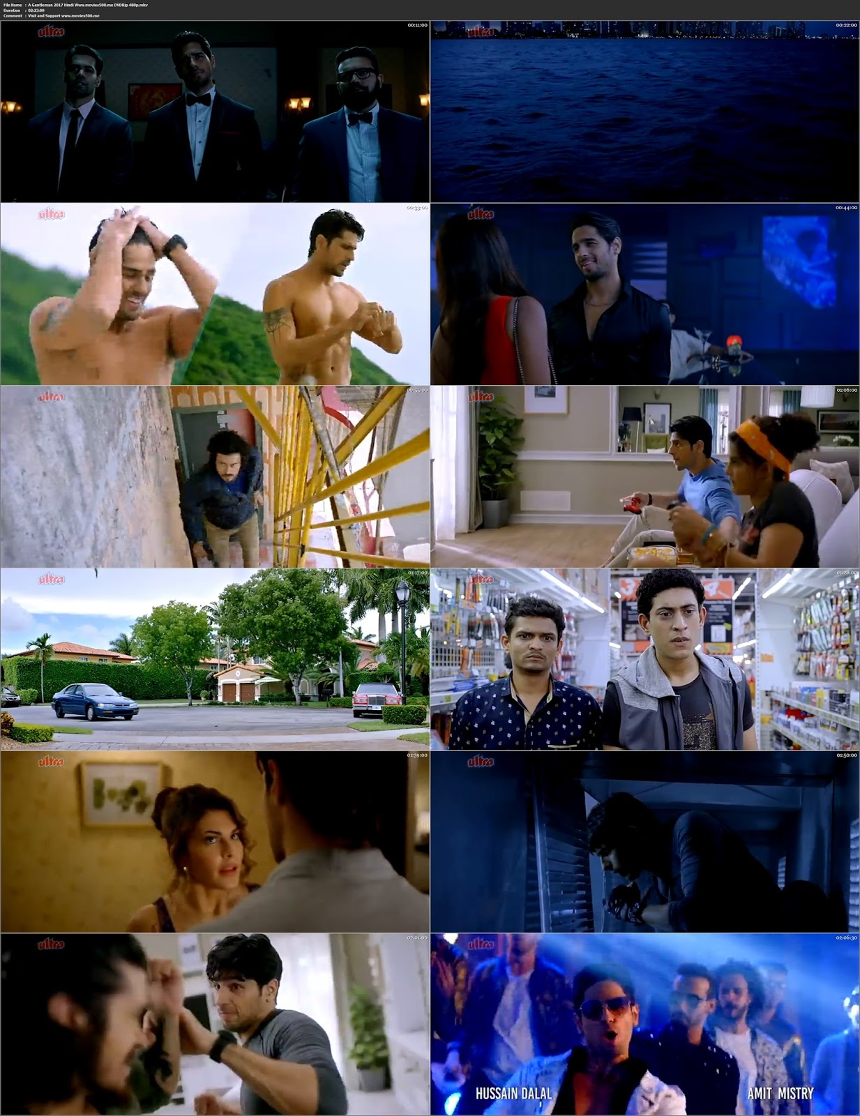 A Gentleman 2017 Bollywood 300MB DVDRip 480p ESubs at movies500.site