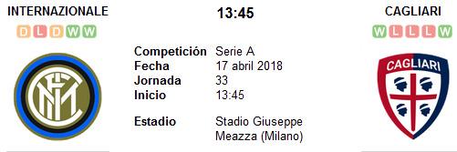 Inter de Milán vs Cagliari en VIVO