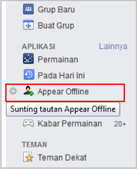 how to make it appear offline on facebook