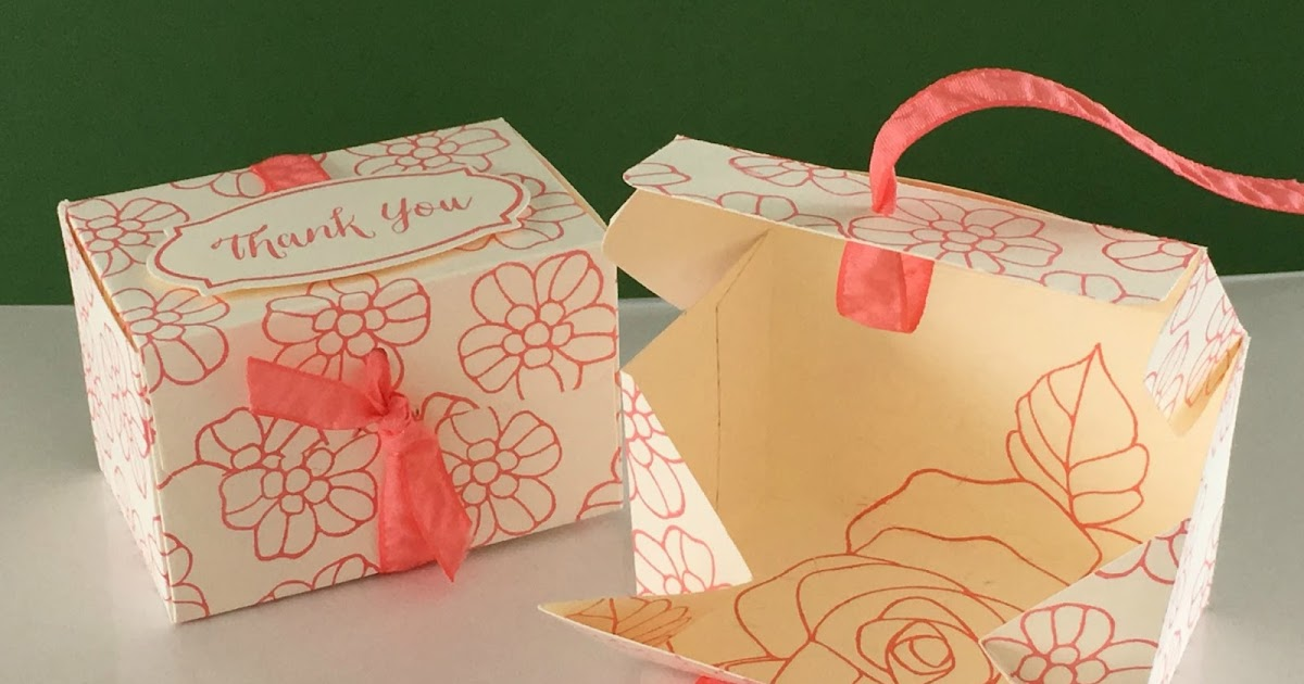 Wedding No Gift Box : ... gift box using Rose Wonder by Stampin Up, ideal for wedding favours