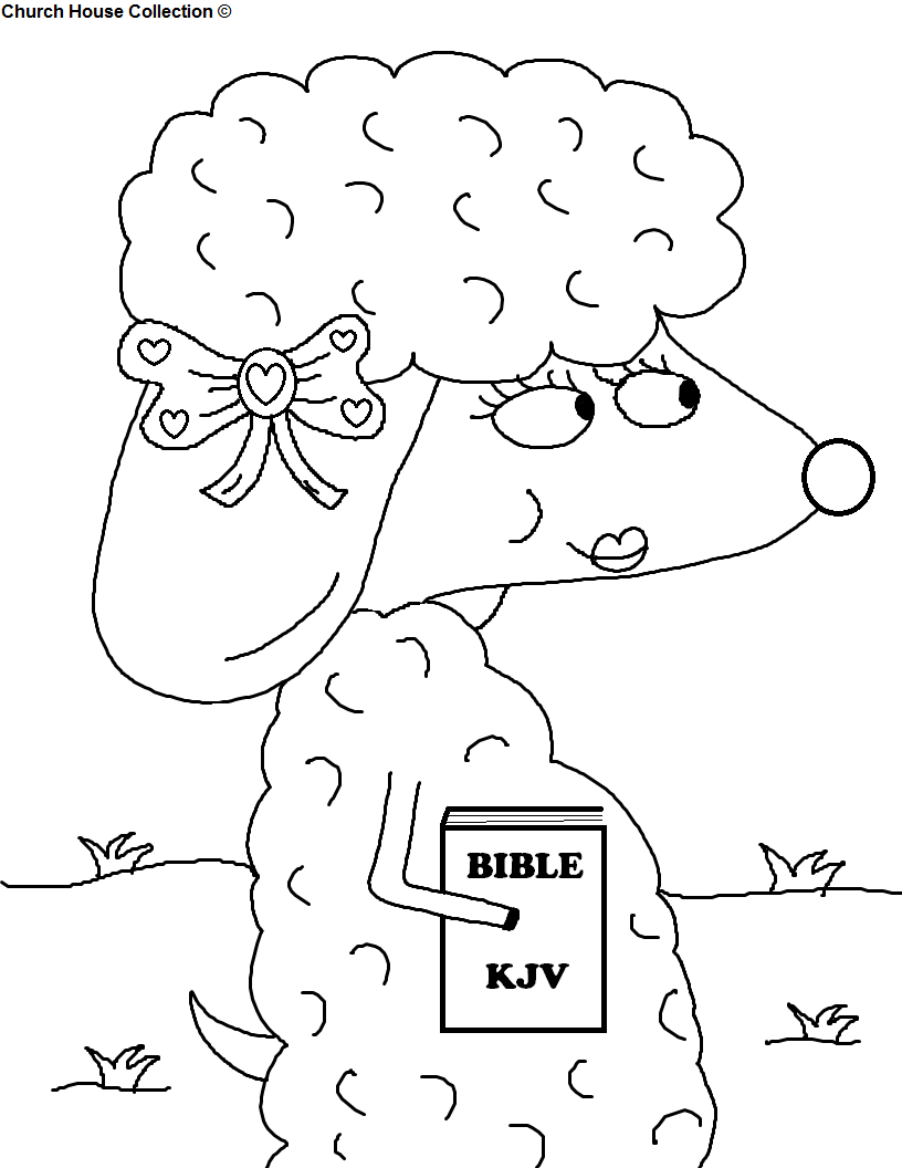 Church House Collection Blog: Sheep With Bible Coloring