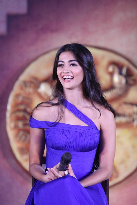 Actress Pooja Hegde Hot Photoshoot In Blue Dress