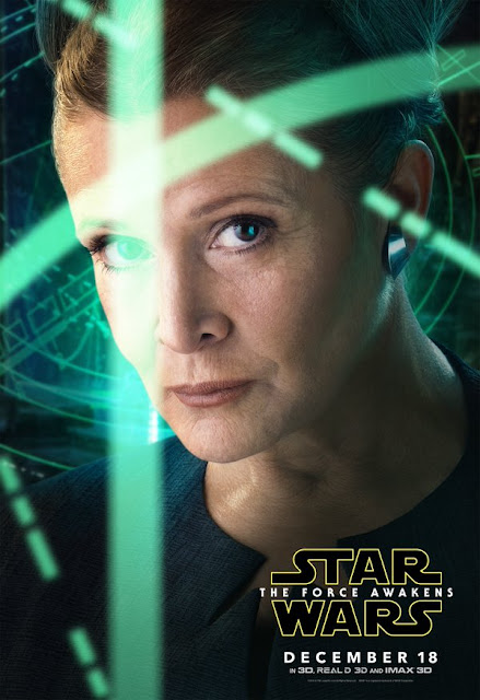 carrie fisher force awakens poster