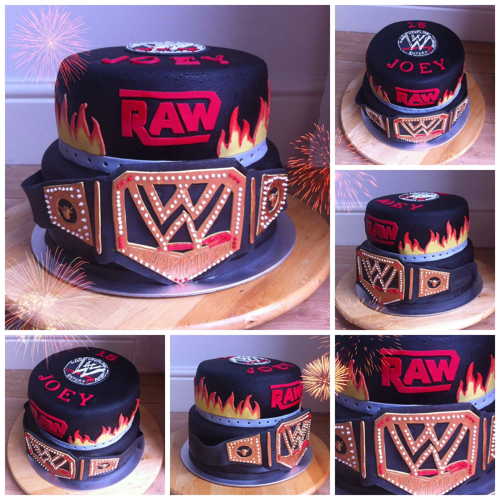 wwe taart Taarten van Elena en Marcela: WWE RAW worstel 2 lagen taart wwe taart