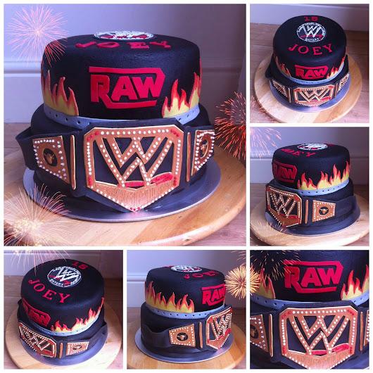 wwe taart WWE RAW worstel 2 lagen taart wwe taart