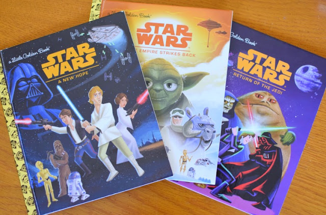 Star Wars Little Golden Books, part of August reading roundup favorite book selections