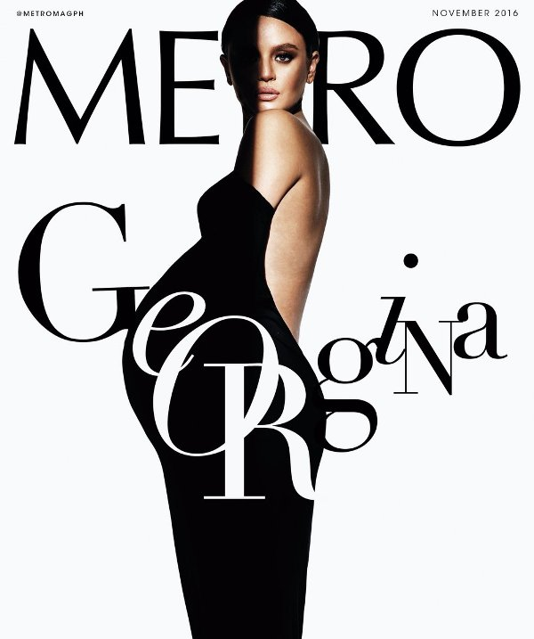 Georgina WIlson goes nude in the cover of Metro Magazine