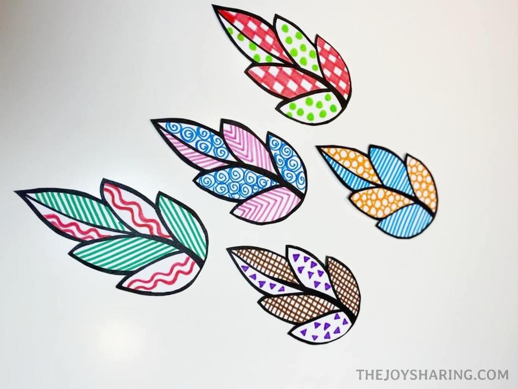 paper leaf cutting activity for kids