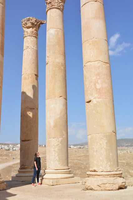 Colonnes du temple de Zeus à Jérash