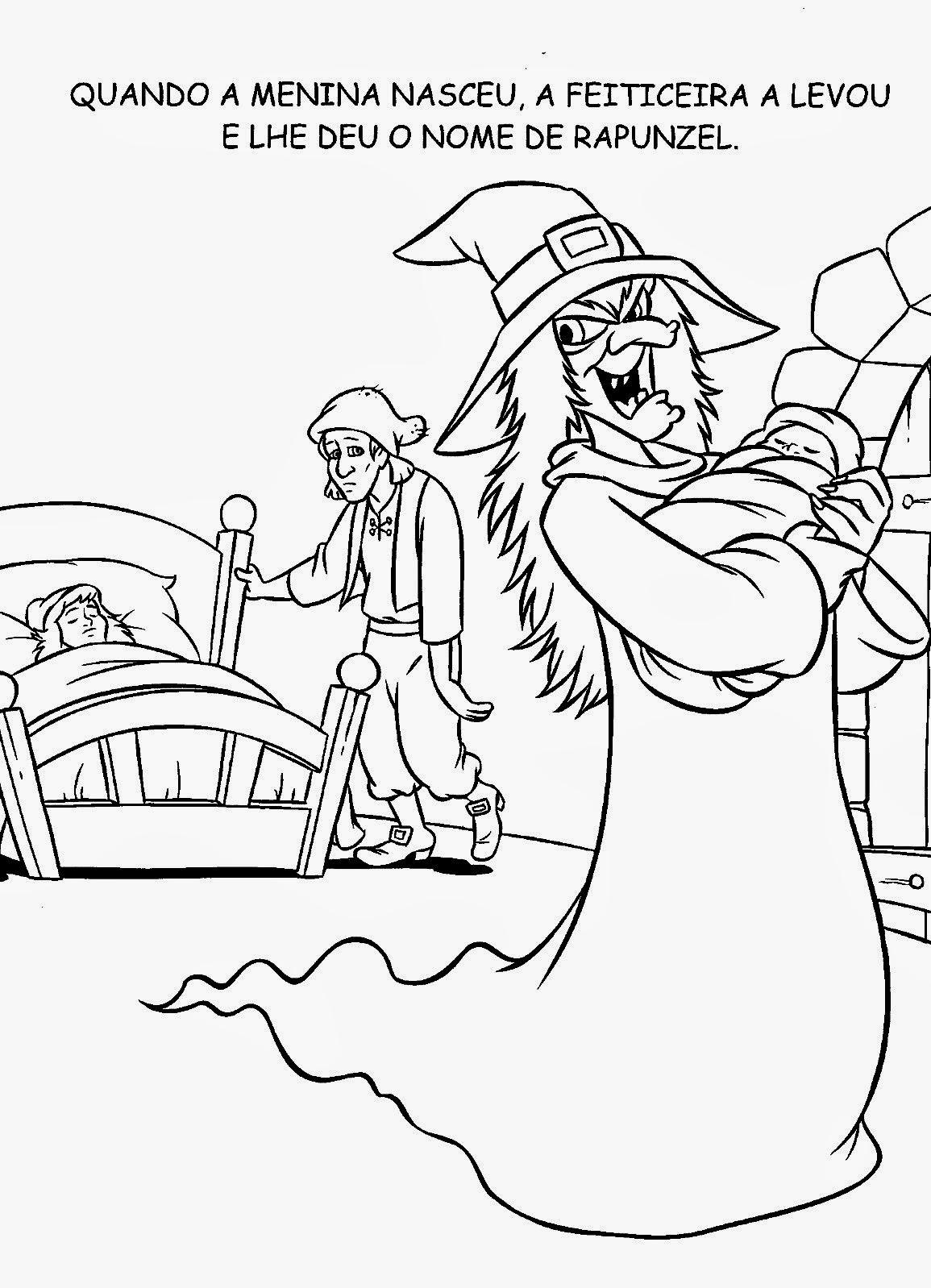 Rapunzel Para Pintar Online Dibujos Para Colorear Rapunzel Y Pascal