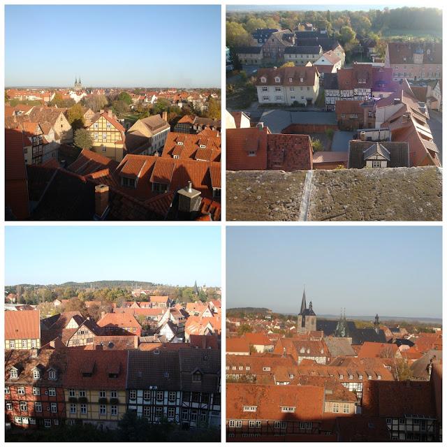 Quedlinburg vista do castelo (Alemanha)