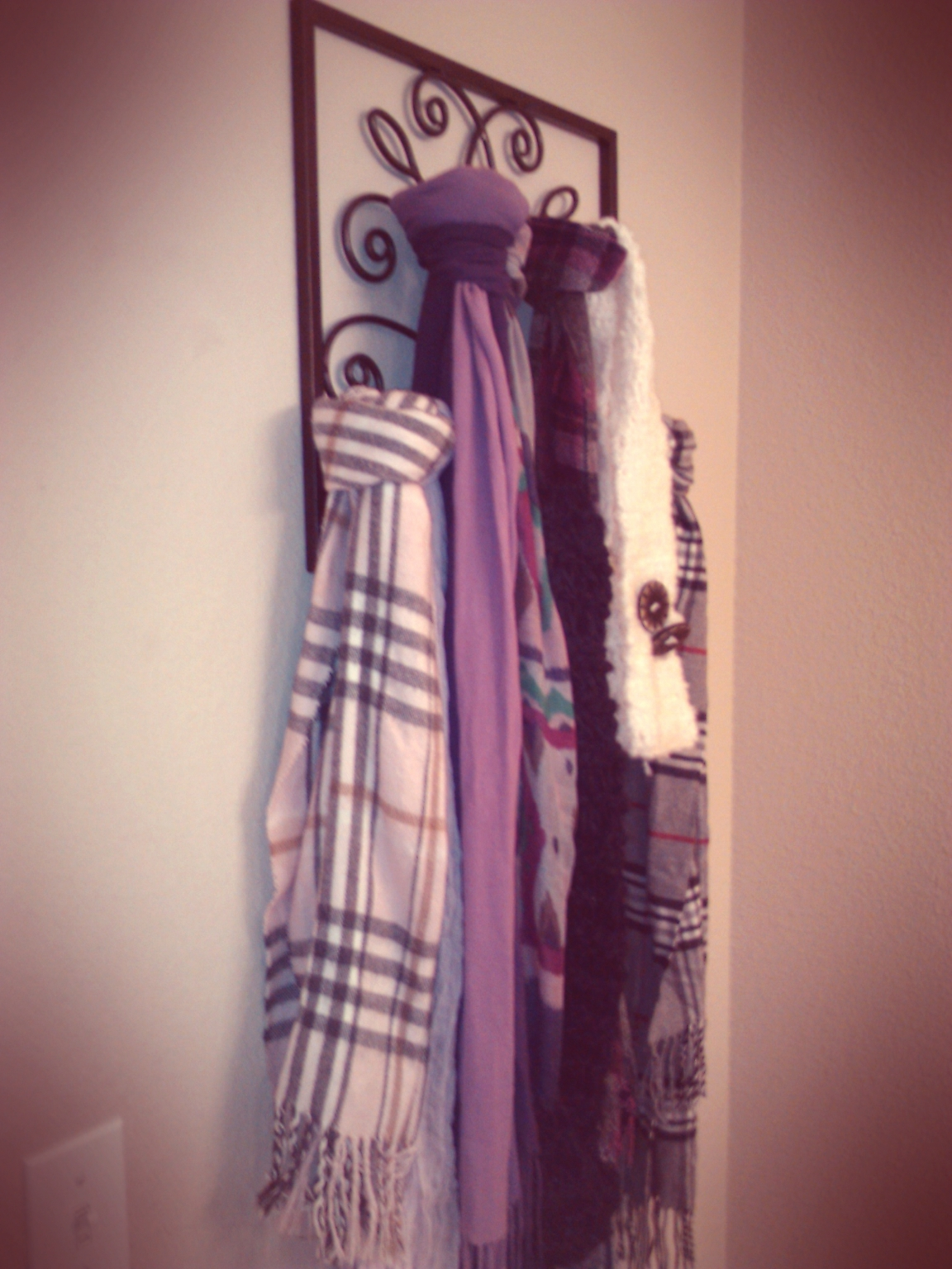 Make Your Place Your Home Scarf Organizer From Wall