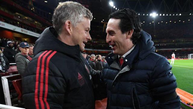 Manchester United Ole Gunnar Solskjaer, Arsenal FC Unai Emery