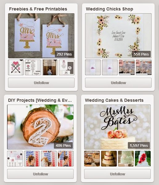 Wedding Pinterest Boards to follow | Wedding Chicks | DollfaceBlogs