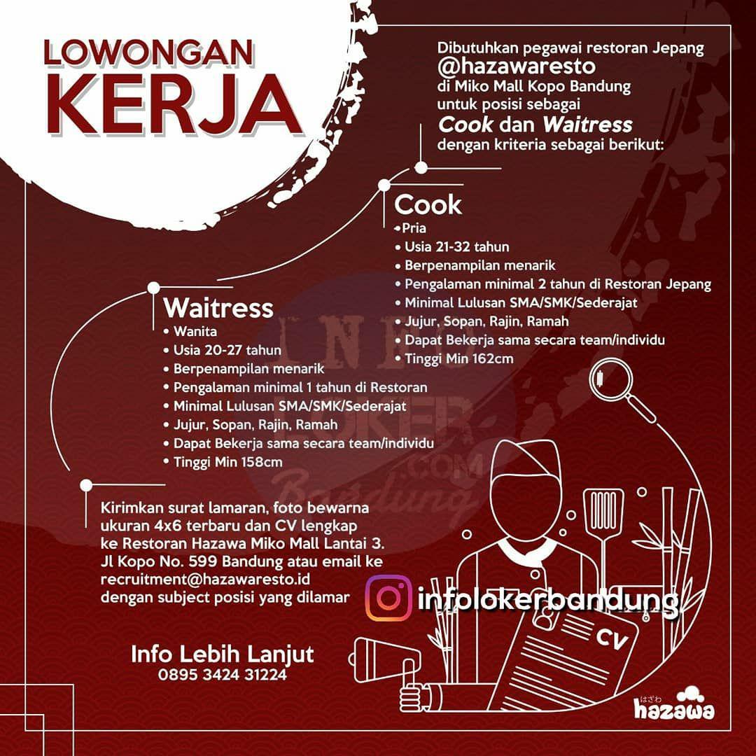 Lowongan Kerja Hazawaresto Bandung Maret 2018