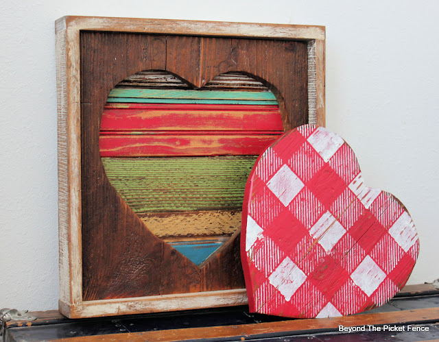 Reclaimed Wood Hearts