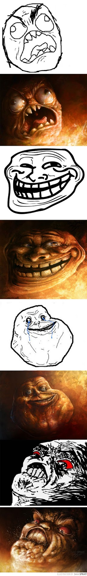 rage faces evolved