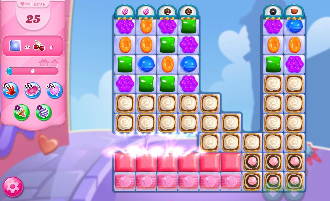 Candy Crush Saga level 6916