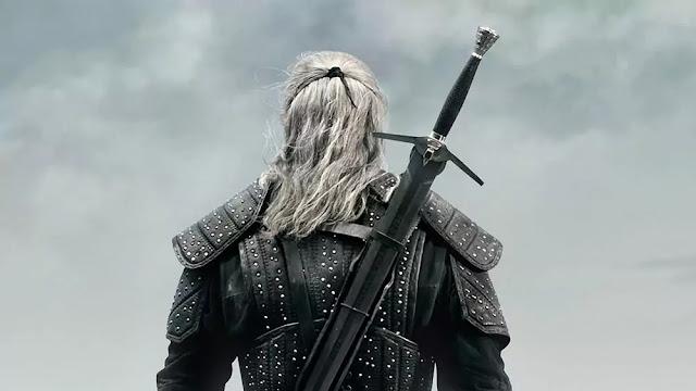 Geralt de Rivia de espaldas