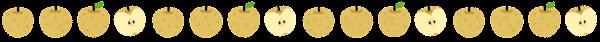 梨のライン素材