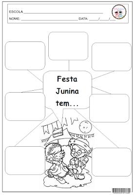 atividade com festa junina