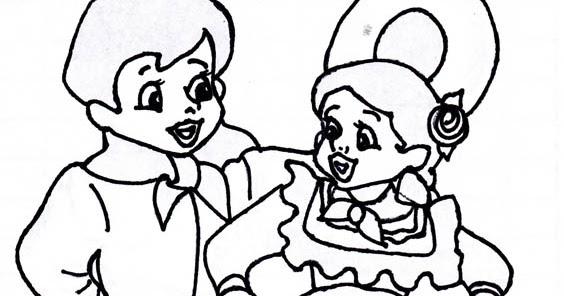Dibujo De Ni 241 Os Bailando Imagui Kindergessica Oneletterco