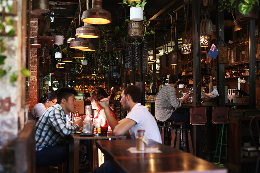 Sydney, Australia: 5 Restaurants, Bars, and Cafes I Loved - Skittle Lane Coffee, Icebergs Dining Room and Bar, Mr Wong, Establishment, and Blacksmith Surry Hills.
