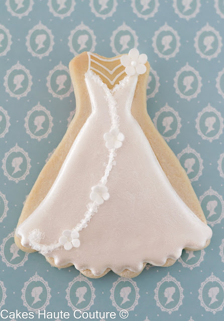 Bridal dress cookie