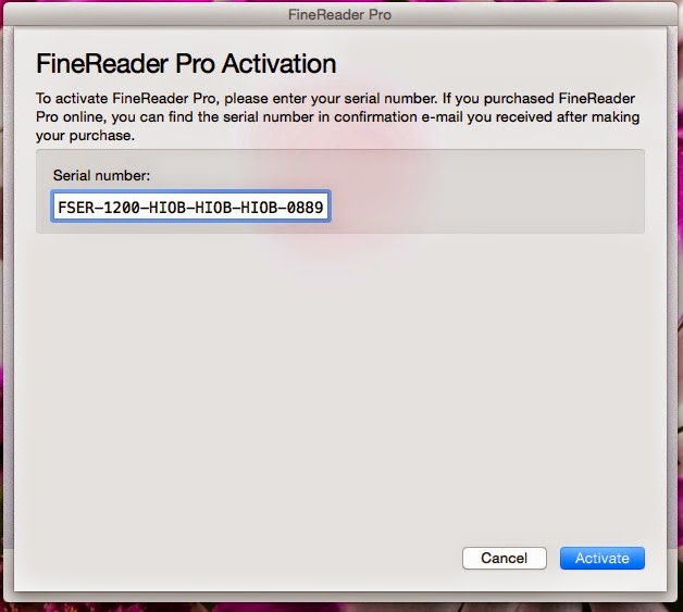 abbyy finereader 14 crack with license key