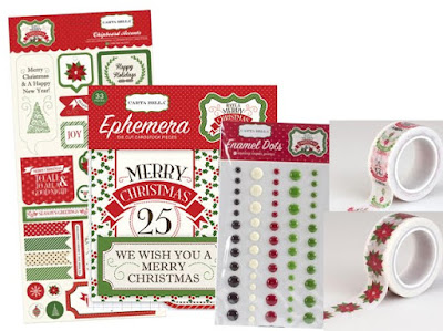 carta bella christmas embellishment kit