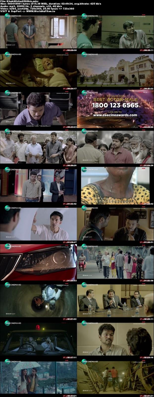 Khaki Aur Khiladi 2017 Hindi Dubbed HDTV 480p 500mb x264 KhakiKhiladi500hin