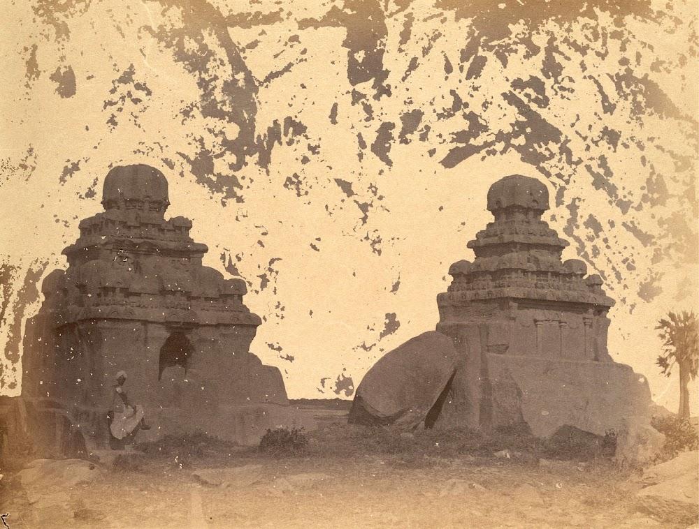 Two Unfinished Rathas, Mamallapuram, Tamil Nadu - c.1885