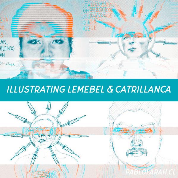 Illustration,Pedro Lemebel, Camilo Carillanca, Pablo Lara H