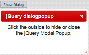 Close jQuery UI Dialog Modal Popup when outside (Overlay Background