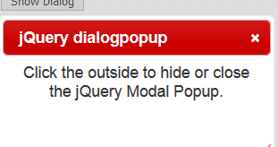 Close jQuery UI Dialog Modal Popup when outside (Overlay