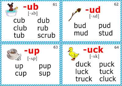 phonics flashcards for kids short u sound