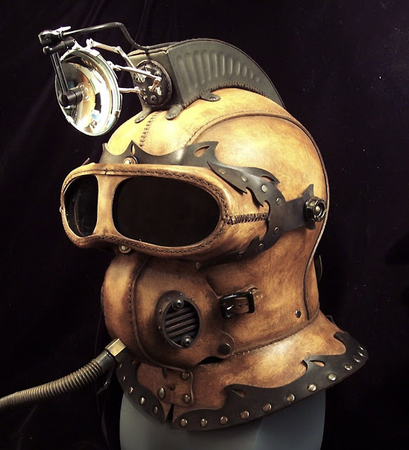 Steampunk Gas Masks & Helmets So Exquisite, They'll Leave