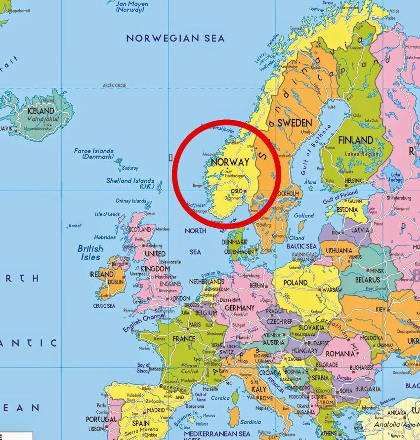 noruega mapa Noruega Mapa Europa noruega mapa
